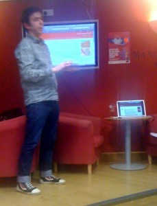 Julian Tait speaking at the Manchester Social Media Cafe