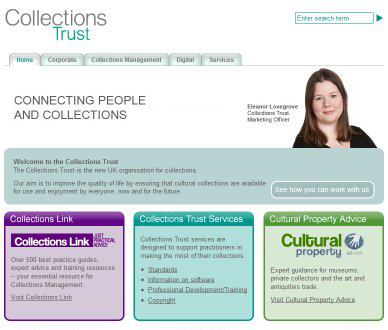 Collections Trust Web site