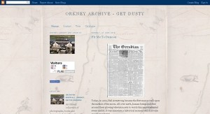 Orkney Archive blog screenshot