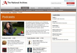 The National Archives Podcast Series screenshot