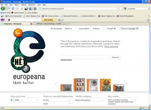 Europeana home page
