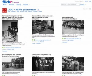 NLW Flickr photostream screenshot