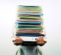 image of pile of files