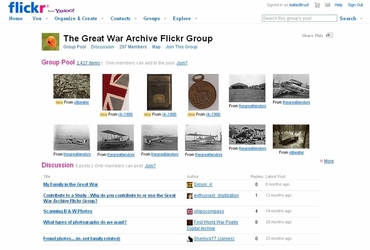 screenshot Great War flickr group