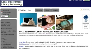screenshot of local government library technology wiki