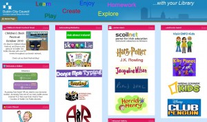 screenshot of netvibes learning zone page
