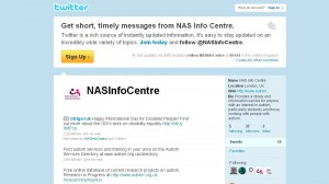 Screen shot of NAS Twitter account