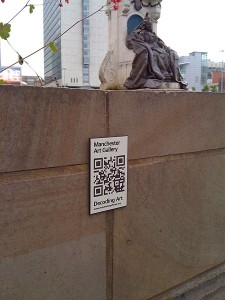 Image of QR label and art object