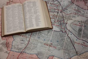 Image of map and print directory