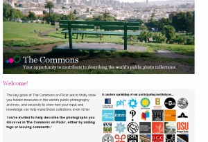 image of flickr commons home page