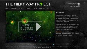 image of milkyway project home page