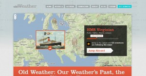 image of Old Weather home page